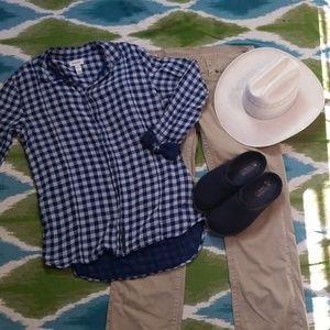Mens DIESEL plaid button down shirt size xl